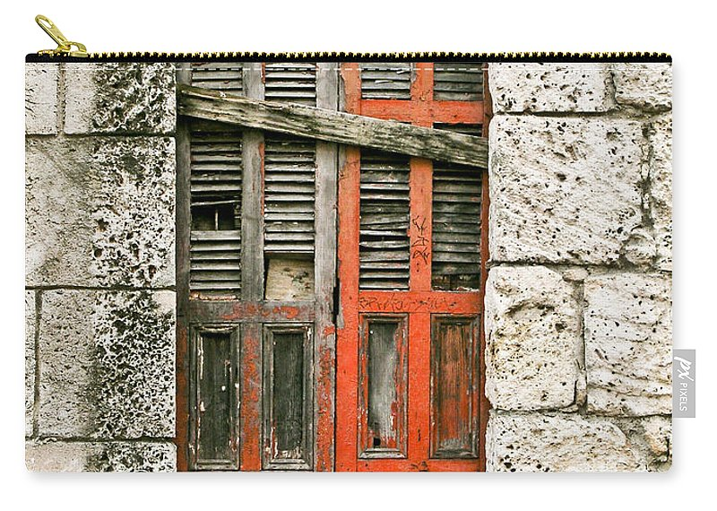 Door Carry-all Pouch featuring the photograph Red Door by Douglas Barnett