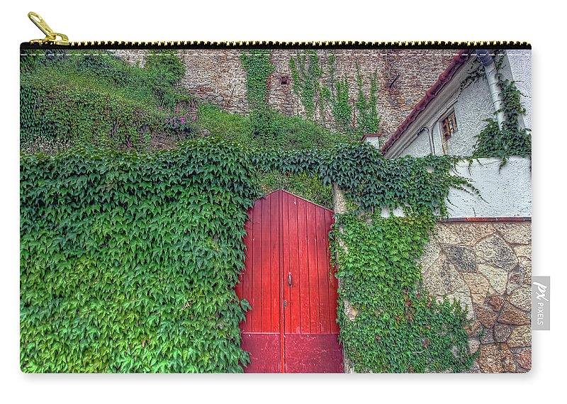 Spain Carry-all Pouch featuring the photograph Red Door by Nadia Sanowar