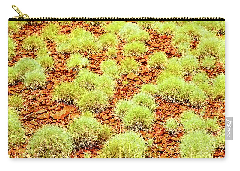 Newman Carry-all Pouch featuring the photograph Red Earth And Spinifex 2am-111716 by Andrew McInnes