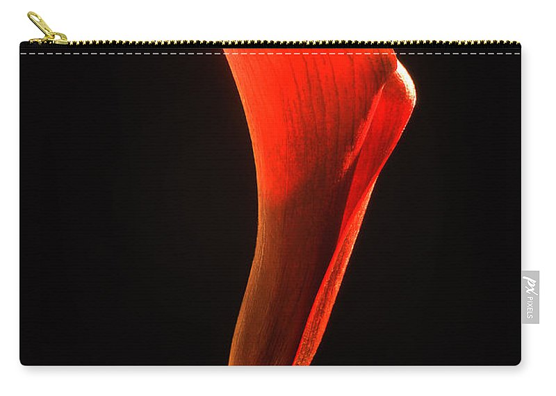 Calla Carry-all Pouch featuring the photograph Red Essence by Casper Cammeraat