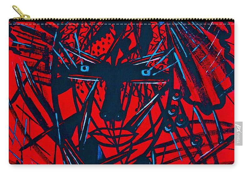 Abstract Carry-all Pouch featuring the painting Red Exotica by Natalie Holland