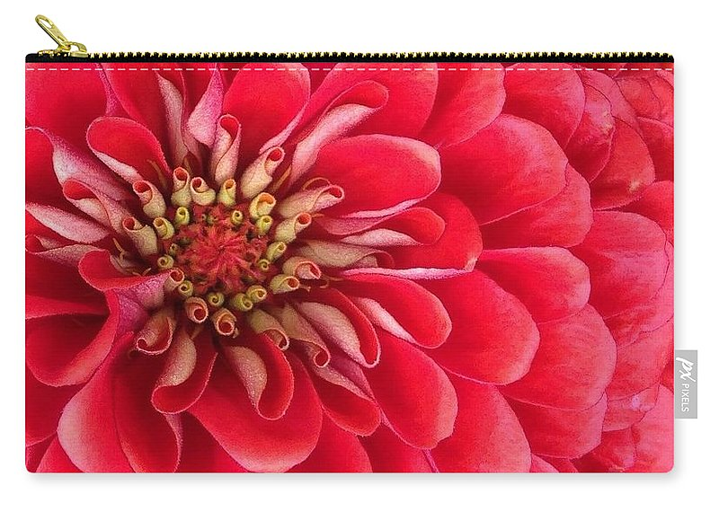 Flora Carry-all Pouch featuring the photograph Red Explosion by Bruce Bley
