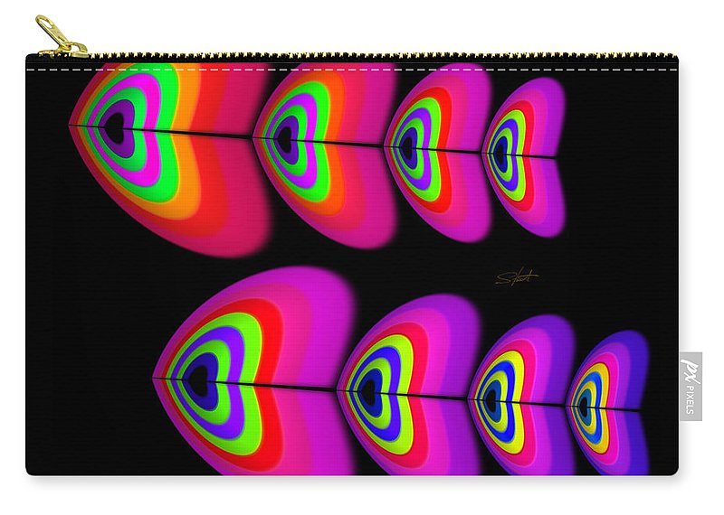 Fish Carry-all Pouch featuring the digital art Red Fish by Charles Stuart