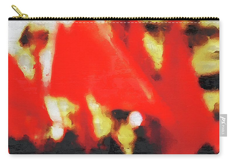 Red Carry-all Pouch featuring the photograph Red Flags II by Pekka Liukkonen