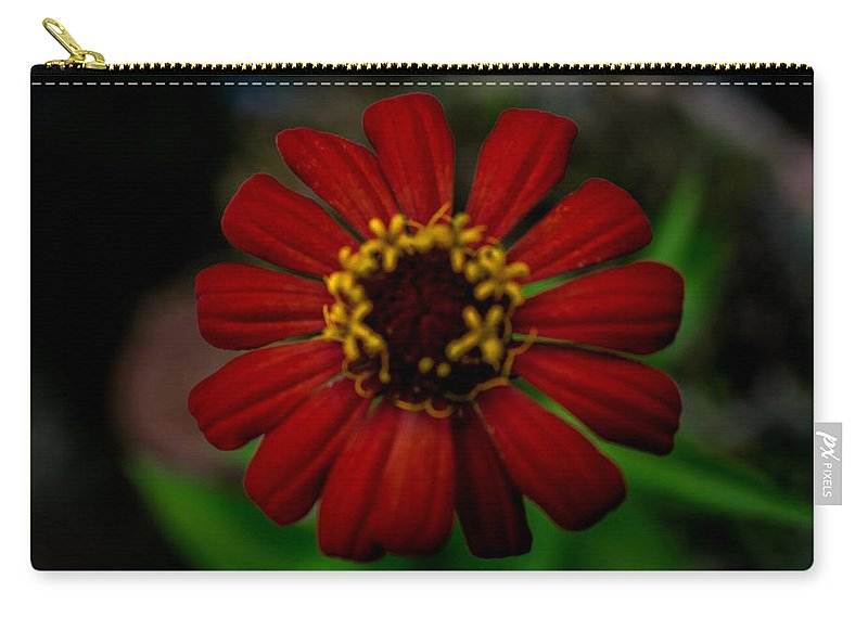 Orange Carry-all Pouch featuring the photograph Red Flower 8 by Totto Ponce