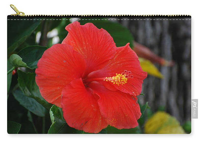 Flowers Carry-all Pouch featuring the photograph Red Flower by Rob Hans