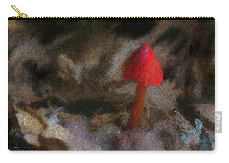 Poison Carry-all Pouch featuring the photograph Red Forest Mushroom by Marvin Spates