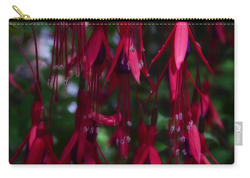 Fuchsia Carry-all Pouch featuring the photograph Red Fuchsia by Svetlana Sewell