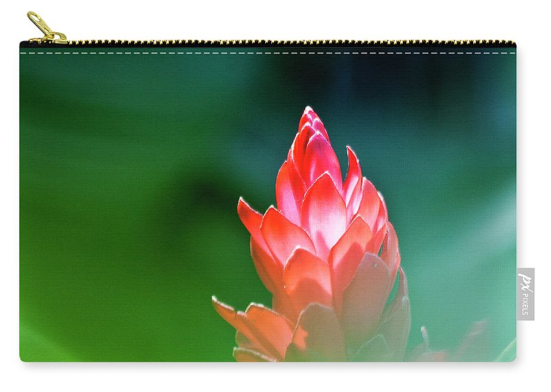 Ginger Flower Carry-all Pouch featuring the photograph Red Ginger by Heiko Koehrer-Wagner