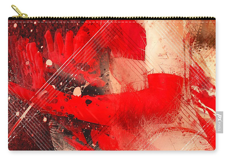 Woman Carry-all Pouch featuring the photograph Red Gloves by Svetlana Sewell