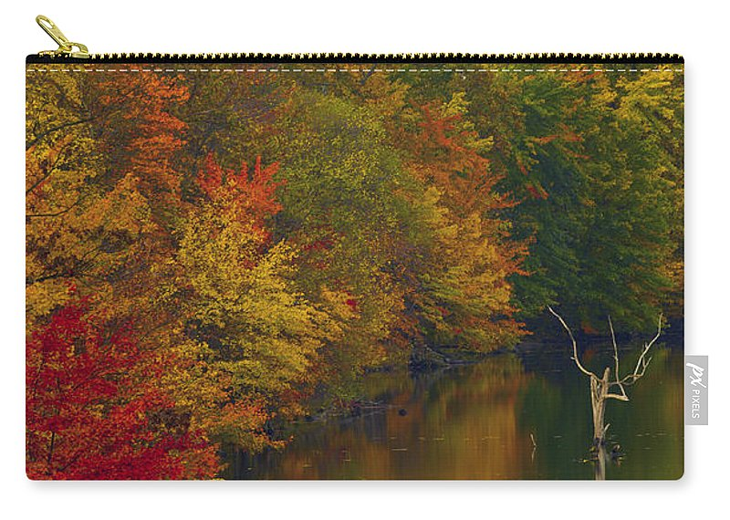 Germantown Carry-all Pouch featuring the photograph Red Gold And Green by Edward Kreis