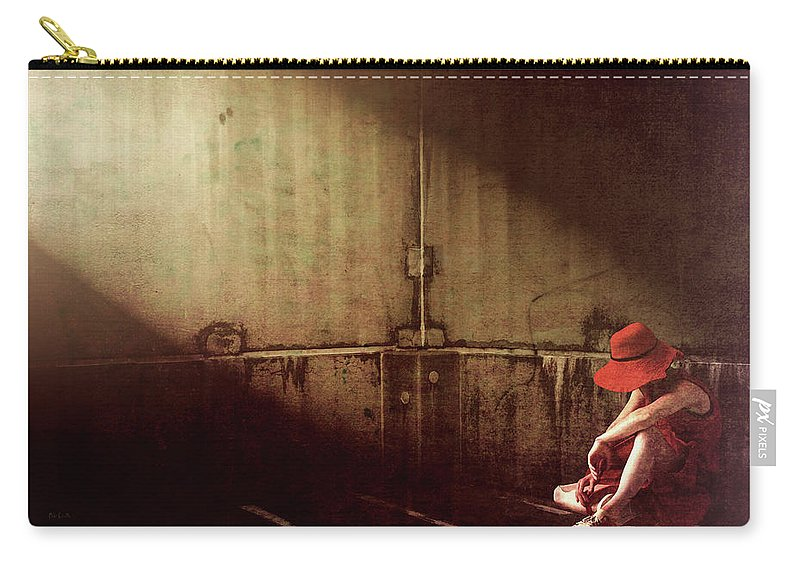 Dreamscape Carry-all Pouch featuring the photograph Red Hat by Bob Orsillo