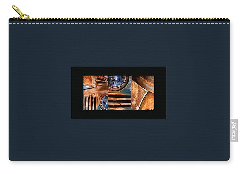 Abstract Photo Of Chevy Truck Carry-all Pouch featuring the photograph Red Head On by Steve Karol
