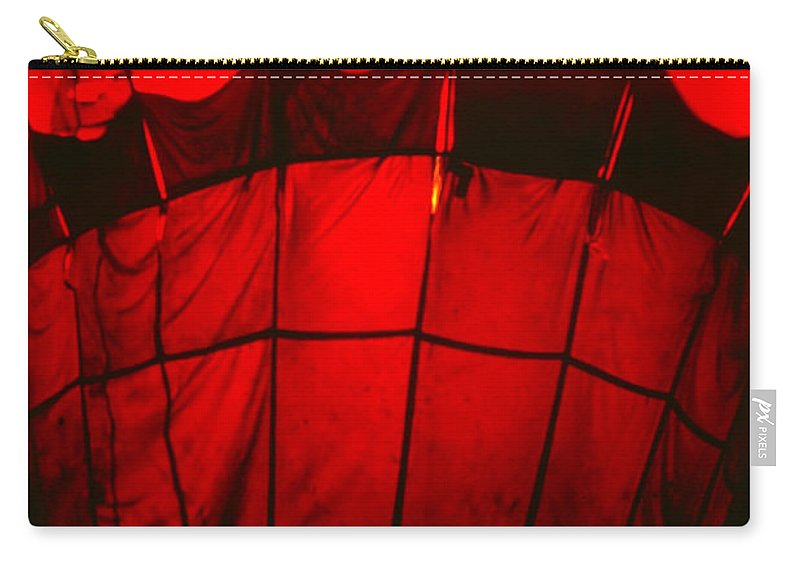Balloon Carry-all Pouch featuring the photograph Red Hot Air Balloon by Thomas Marchessault