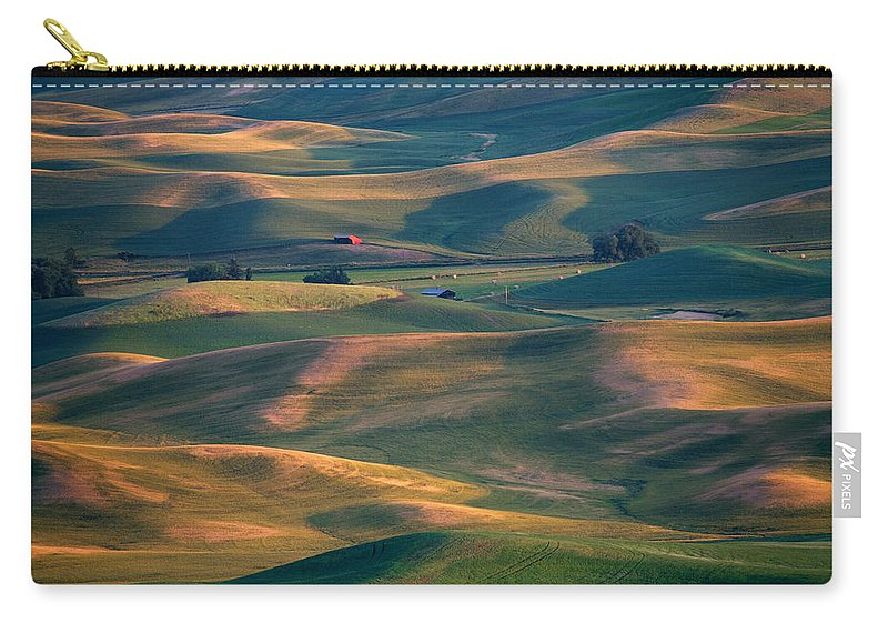 Barn Carry-all Pouch featuring the photograph Red In A Sea Of Green by Mike Dawson