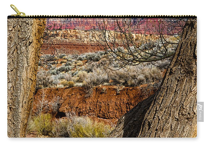 Mountain Carry-all Pouch featuring the photograph Red In The Distance by Christopher Holmes