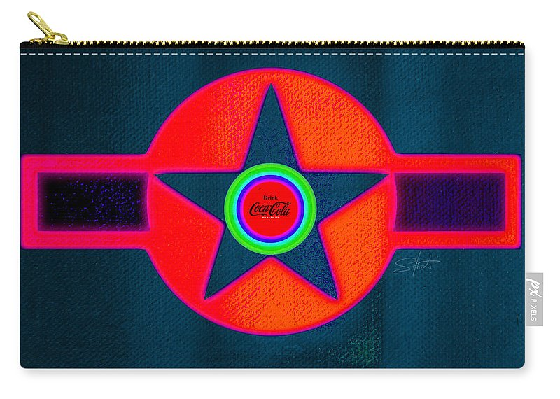 Usaaf Carry-all Pouch featuring the painting Red Intense by Charles Stuart