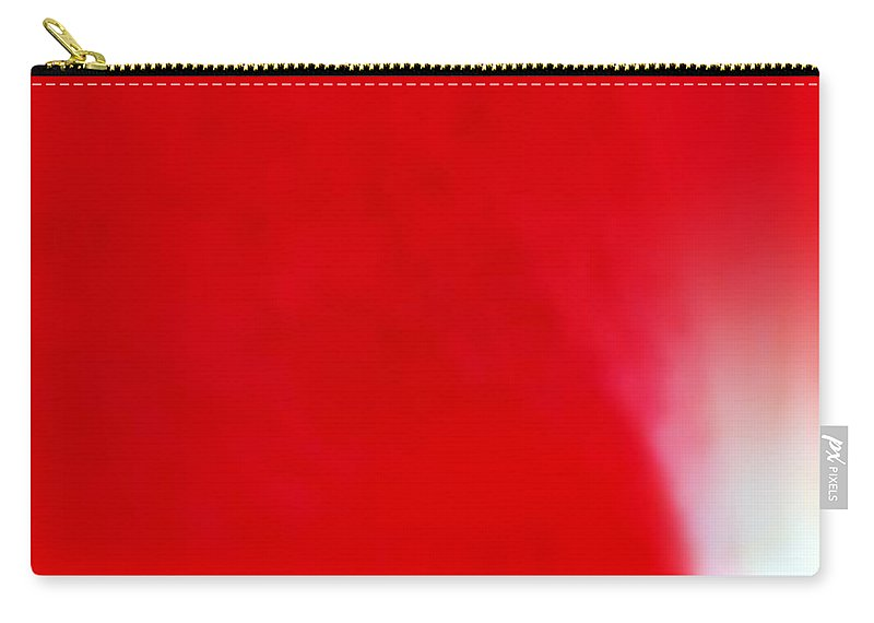 Red Carry-all Pouch featuring the photograph Red by Kathy Barney