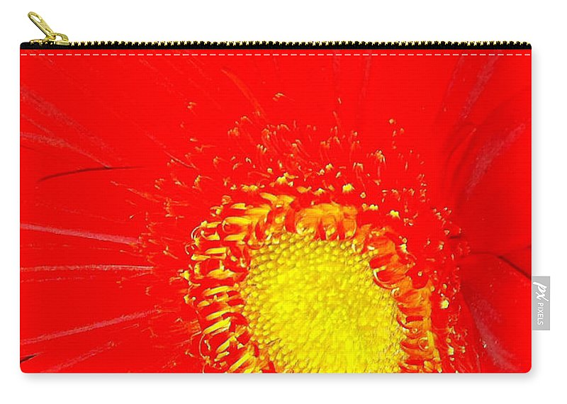 Flower Carry-all Pouch featuring the photograph Red by Kimberly Mohlenhoff