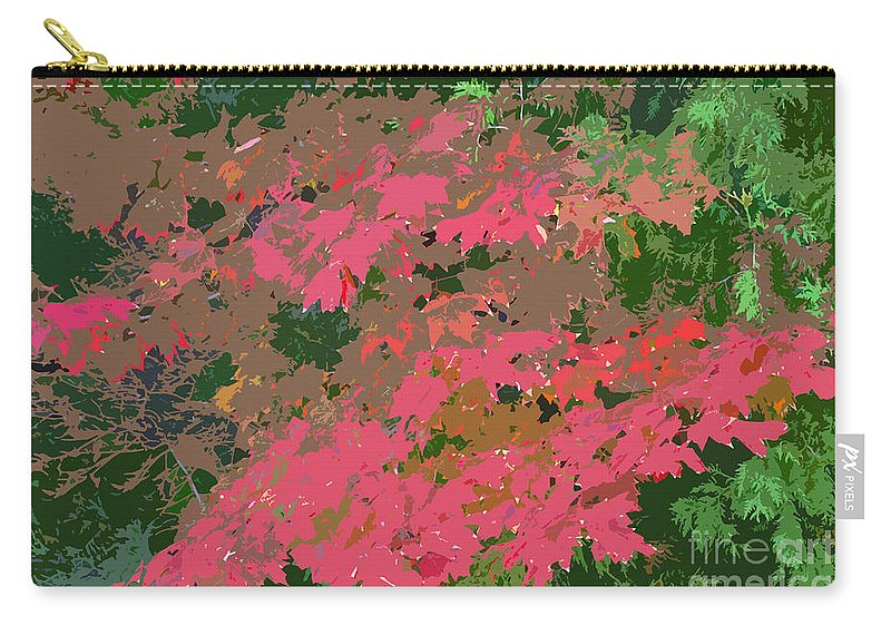 Red Carry-all Pouch featuring the photograph Red Leafs Work Number 12 by David Lee Thompson