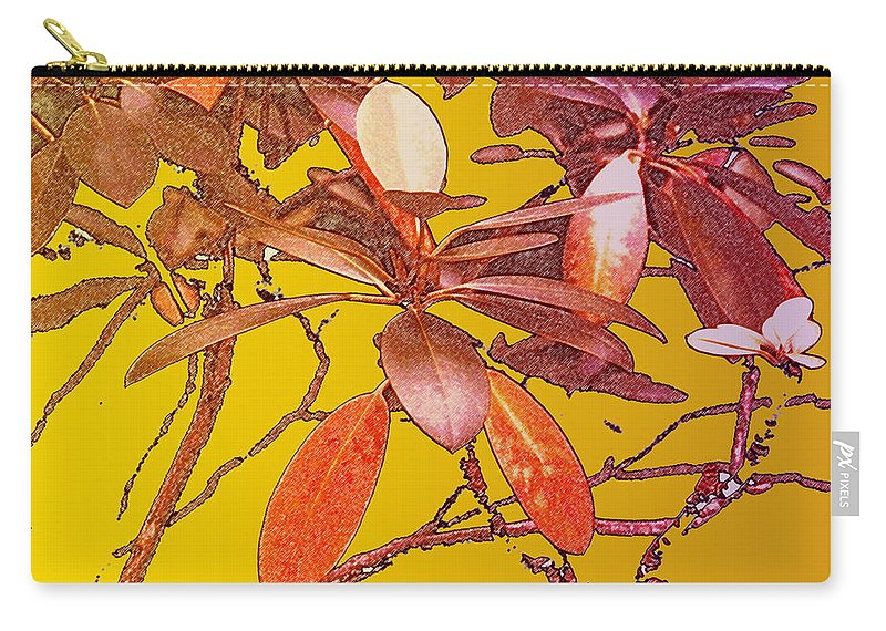 Red Carry-all Pouch featuring the photograph Red Leaves Gold Sunset by Ian MacDonald