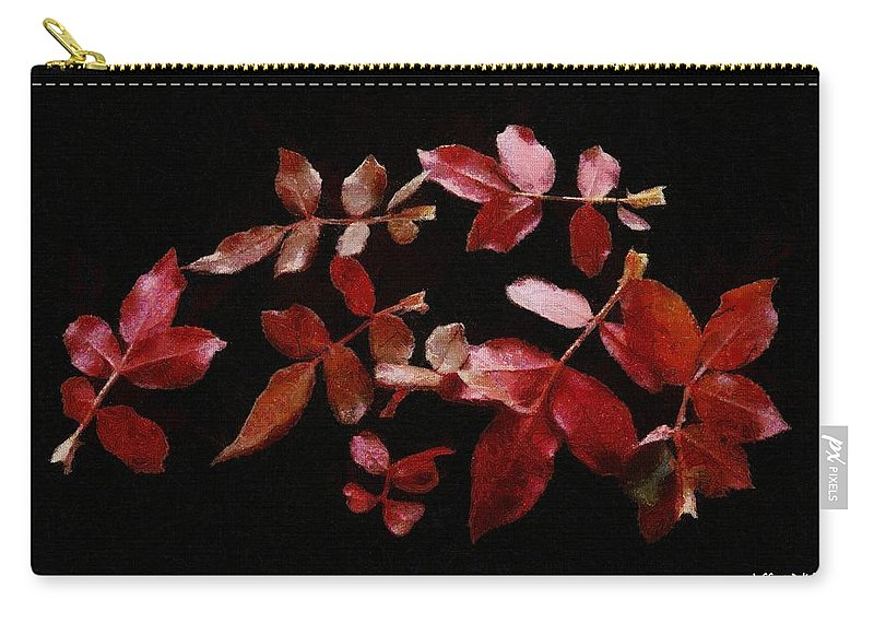 Autumn Carry-all Pouch featuring the painting Red Leaves by Jeffrey Kolker