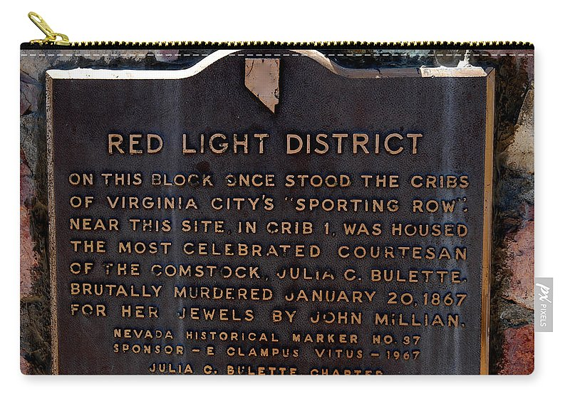 Usa Carry-all Pouch featuring the photograph Red Light District by LeeAnn McLaneGoetz McLaneGoetzStudioLLCcom
