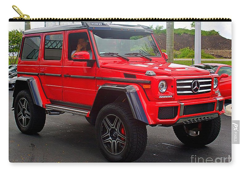 Red Mercedes G Wagon Carry-all Pouch