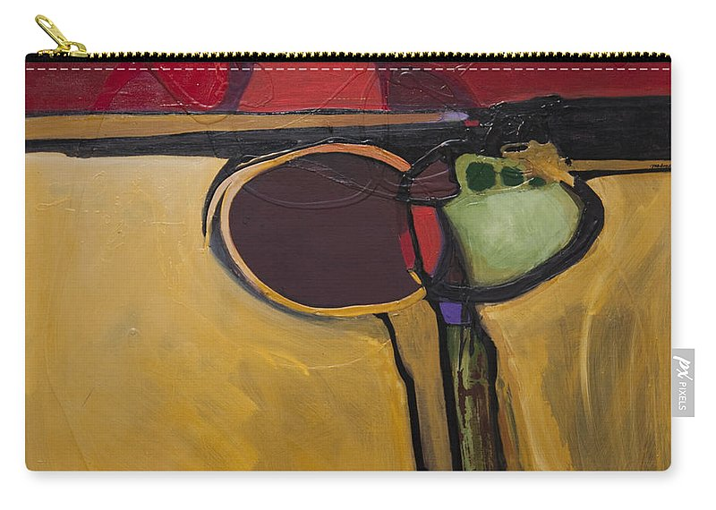 Abstract Carry-all Pouch featuring the painting Red Moon Rising by Marlene Burns