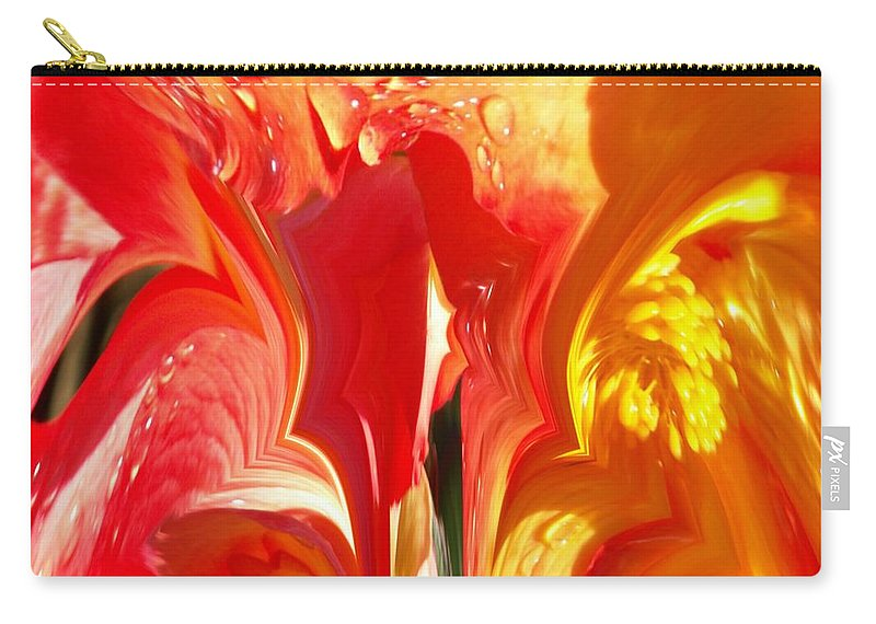 Flowers Carry-all Pouch featuring the photograph Red N Yellow Flowers 5 by Tim Allen