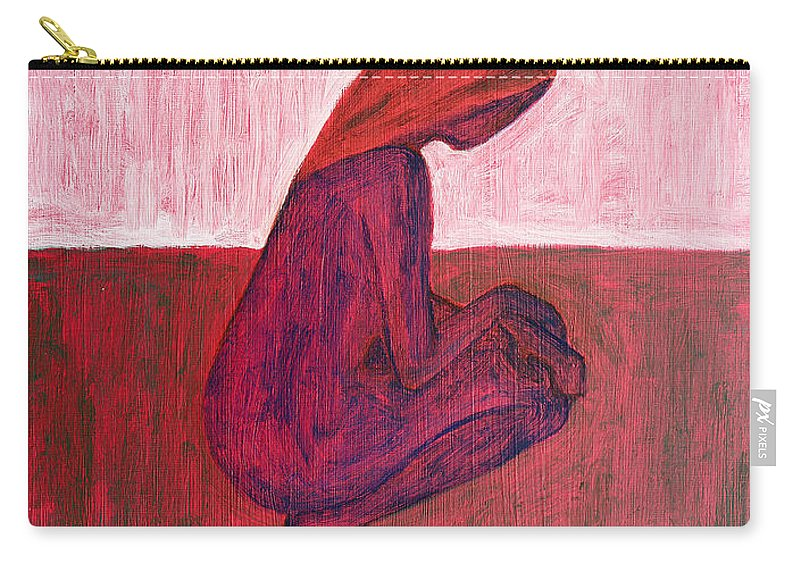 Nude Carry-all Pouch featuring the painting Red Nude by Patrick J Murphy