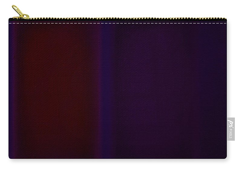 Rothko Carry-all Pouch featuring the painting Red On Blue by Charles Stuart