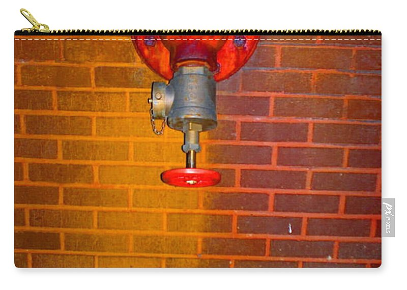 Photograph Carry-all Pouch featuring the photograph Red Pipe by Thomas Valentine