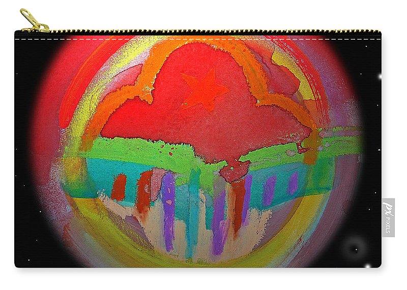 Landscape Carry-all Pouch featuring the painting Red Planet by Charles Stuart