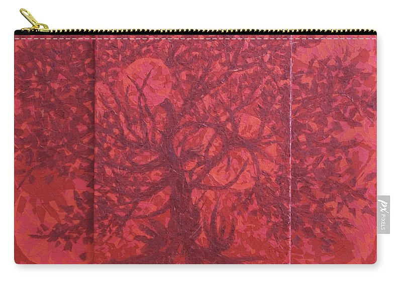 Red Carry-all Pouch featuring the painting Red Planet by Judy Henninger
