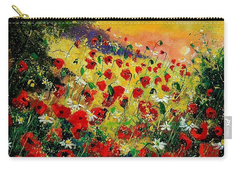 Tree Carry-all Pouch featuring the painting Red Poppies by Pol Ledent
