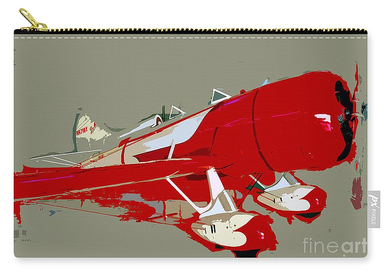 Fast Carry-all Pouch featuring the painting Red Racer by David Lee Thompson
