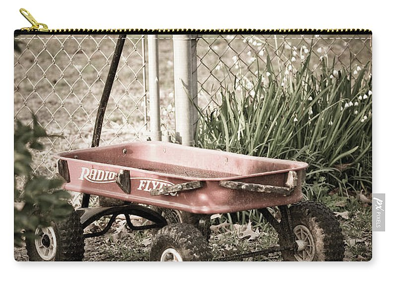 Childs Wagon Carry-all Pouch featuring the photograph Red Rider by Kim Henderson