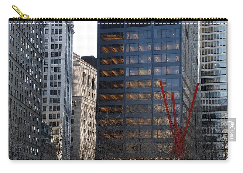 Street Scene Carry-all Pouch featuring the photograph RED by Rob Hans