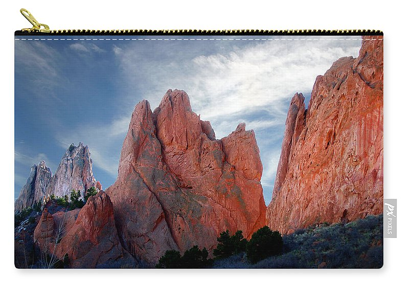 Garden Of The Gods Carry-all Pouch featuring the photograph Red Rock by Anthony Jones