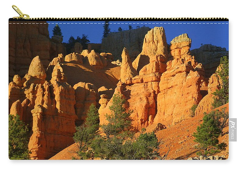 Red Rock Canyon Carry-all Pouch featuring the photograph Red Rock Canoyon At Sunset by Marty Koch