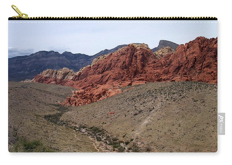 Red Rock Canyon Carry-all Pouch featuring the photograph Red Rock Canyon 1 by Anita Burgermeister