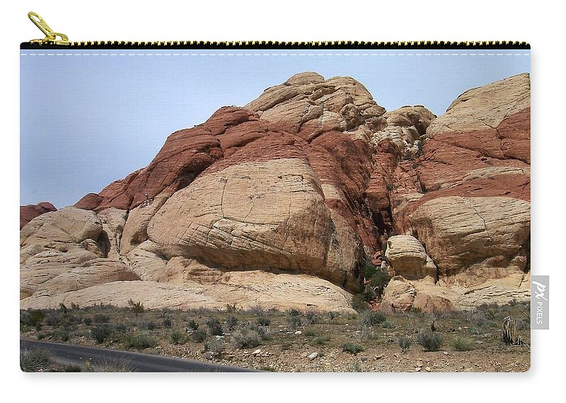 Red Rock Canyon Carry-all Pouch featuring the photograph Red Rock Canyon 2 by Anita Burgermeister