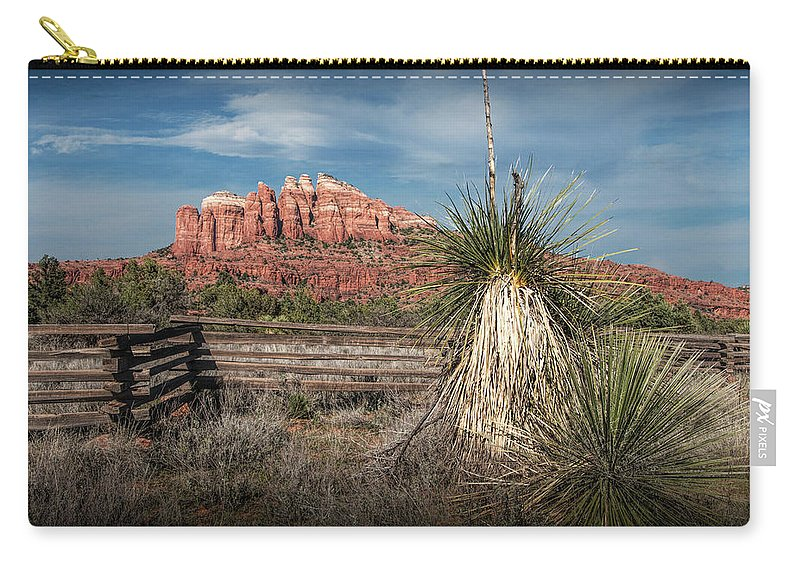 Arizona Carry-all Pouch featuring the photograph Red Rock Formation In Sedona Arizona by Randall Nyhof