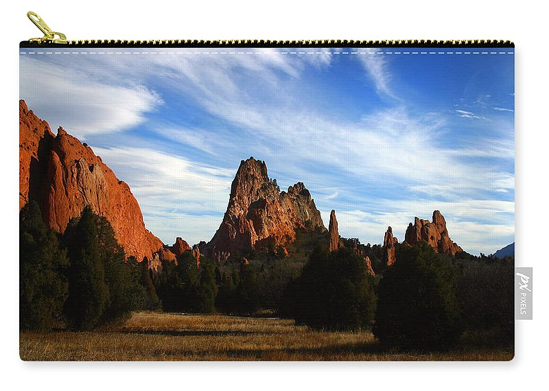 Garden Of The Gods Carry-all Pouch featuring the photograph Red Rock Formations by Anthony Jones