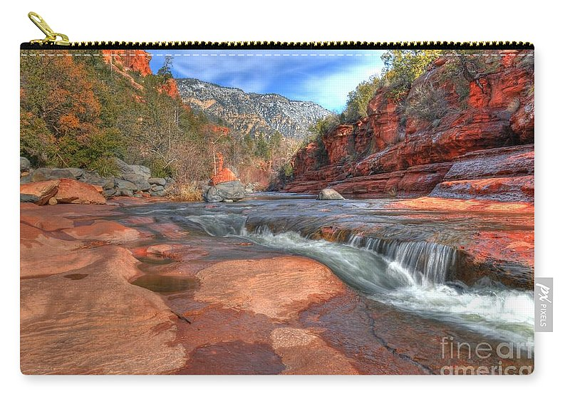Red Rock Sedona Carry-all Pouch featuring the photograph Red Rock Sedona by Kelly Wade