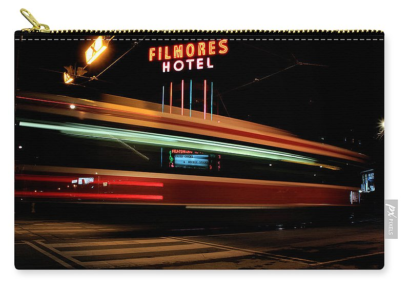 Toronto Carry-all Pouch featuring the photograph Red Rocket 7 by Andrew Fare