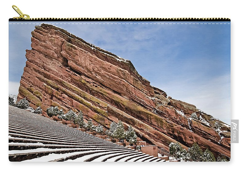 Red Rocks Amphitheater Carry-all Pouch featuring the photograph Red Rocks Amphitheater by Robert VanDerWal