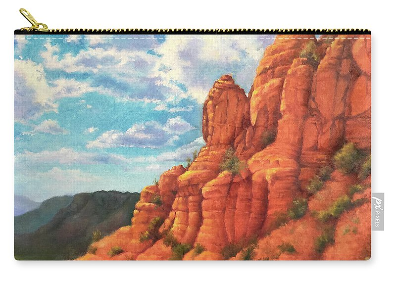 Sedona Carry-all Pouch featuring the painting Red Rocks by Teri Rosario