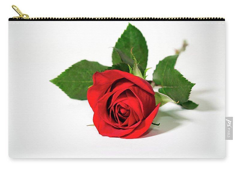 Rose Carry-all Pouch featuring the photograph Red Rose by Betty LaRue